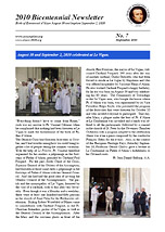 2010 Bicentennial Newsletter - September 2010