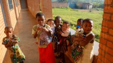 Some of the orphans at the Beni facility
