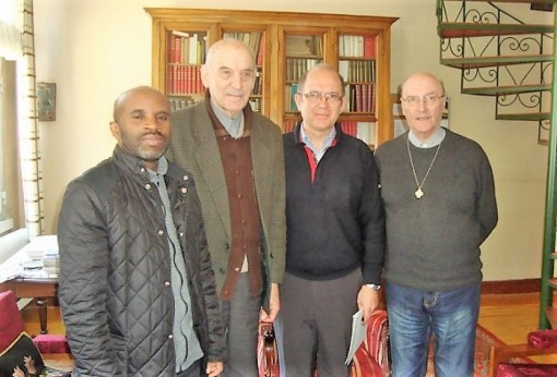 Fr. Xavier, second from left with Fr. General, second from right, and the other members of the Istanbul community (1927-2017)