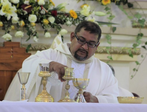 Fr. Oswaldo at his installation as pastor