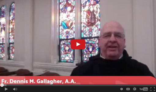 A Christmas Message from Father Dennis Gallagher, A.A., Provincial of the North American Province