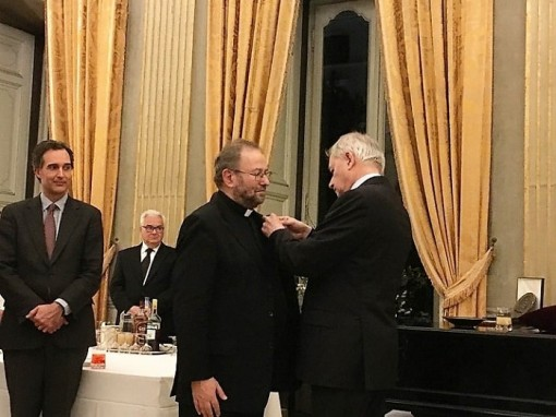 Assumptionist Secretary general, Fr. Michel Kubler, honored as knight of the French National Order of Merit
