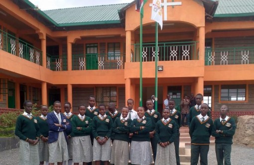 Students at Assumption High School in Nairobi, Kenya.